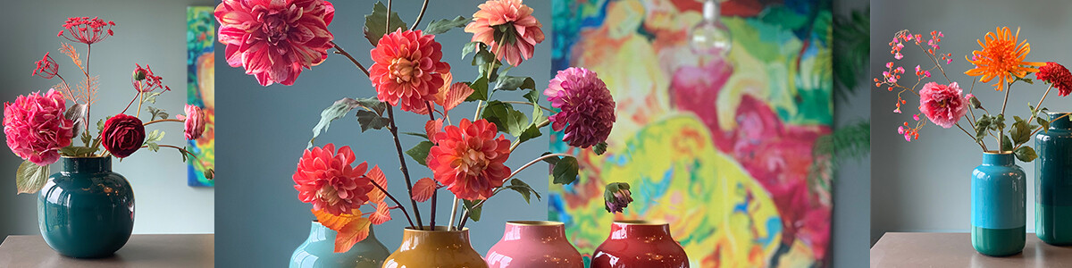 Mix & Match Pip Flowers & Vases