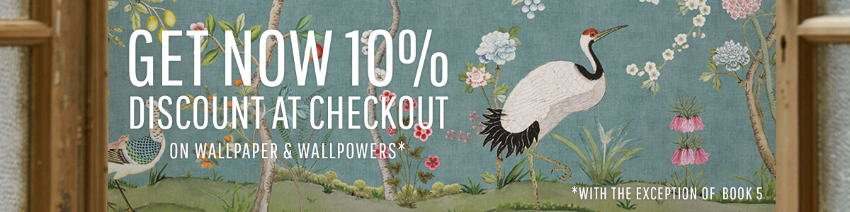 Wallpaper: 10% discount at checkout