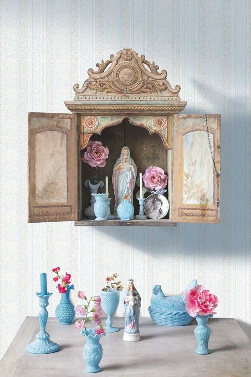 Color Relation Product Pip Studio Pearls and Lace Wallpower blau