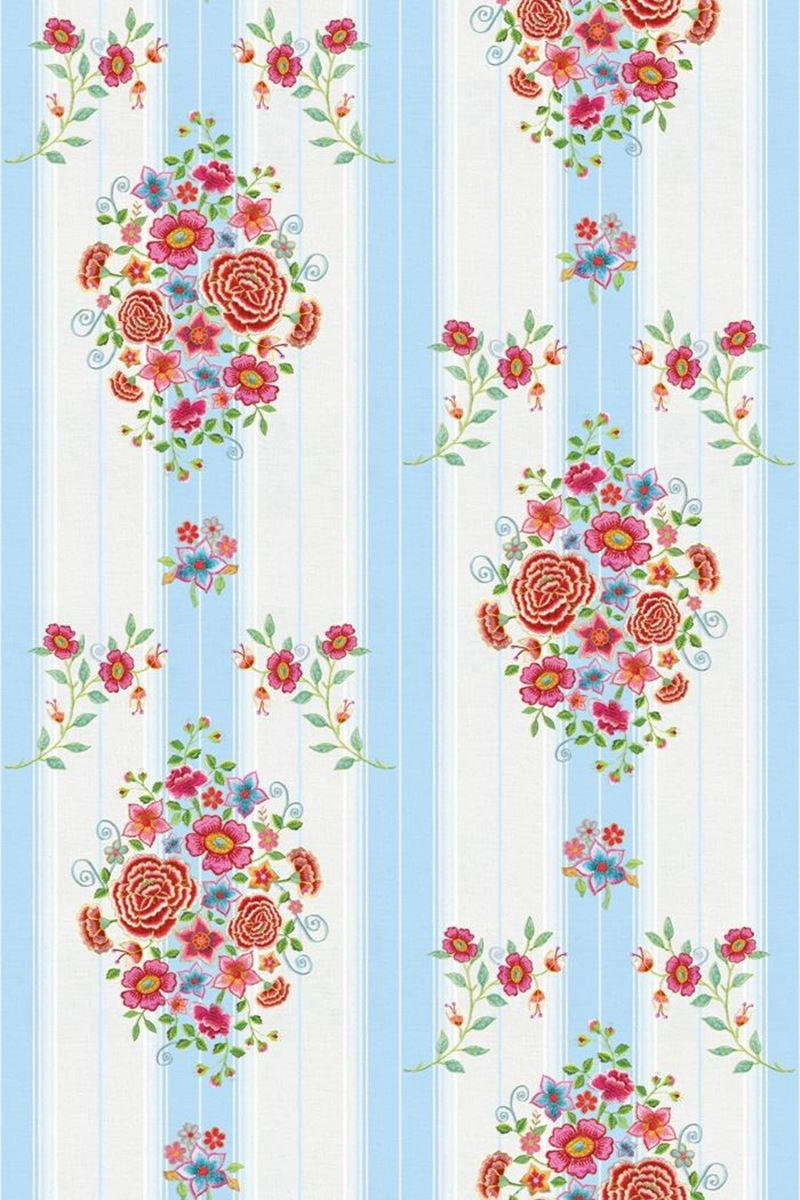 Color Relation Product Pip Studio Embroidery Wallpower blau