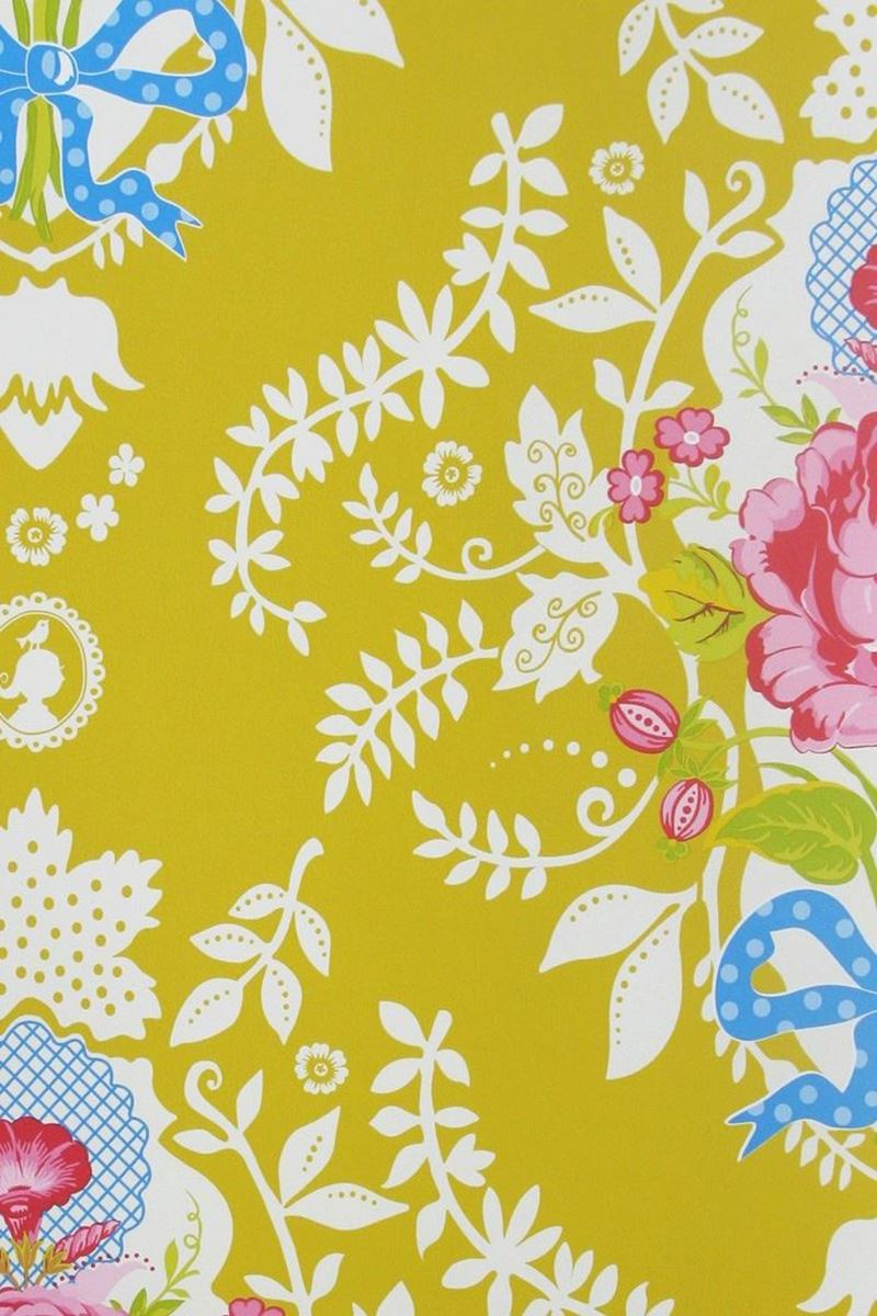 Color Relation Product Pip Studio Shabby Chic Wallpaper Yellow