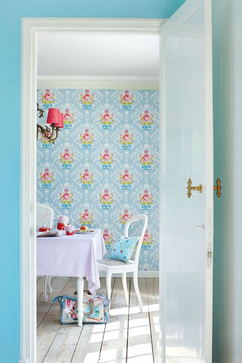 Color Relation Product Pip Studio Shabby Chic Tapete Blau