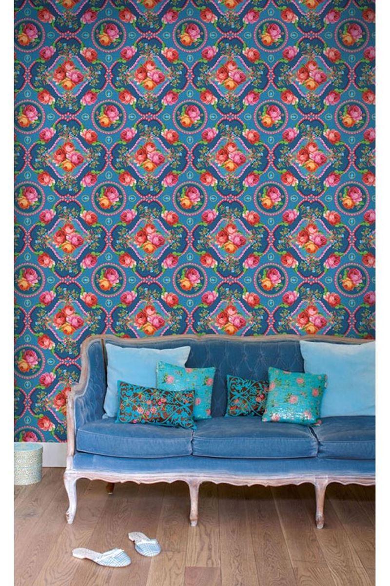 Color Relation Product Pip Studio Singing Roses Wallpower Blau