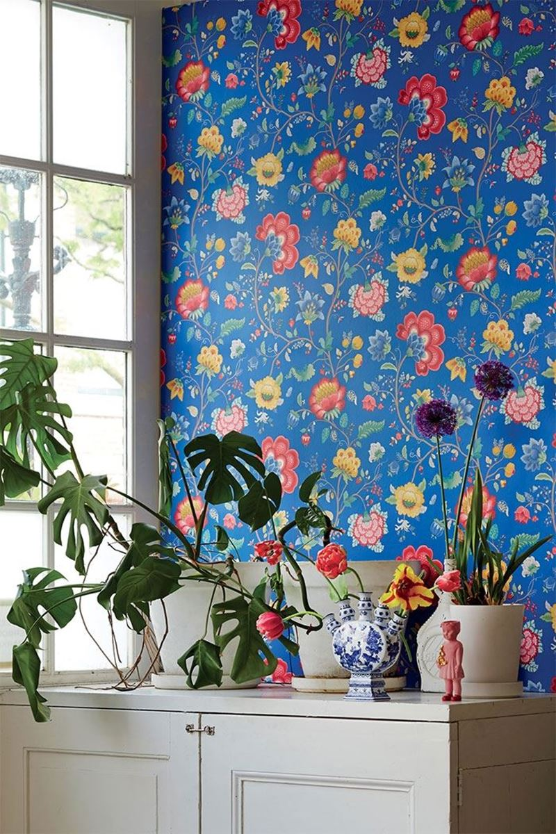 Color Relation Product Pip Studio Floral Fantasy Behang Donker Blauw