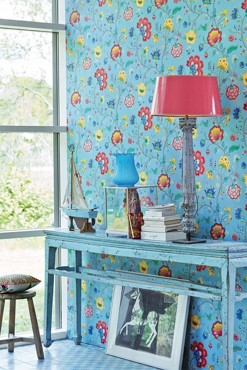 Color Relation Product Pip Studio Floral Fantasy Wallpaper Light Blue