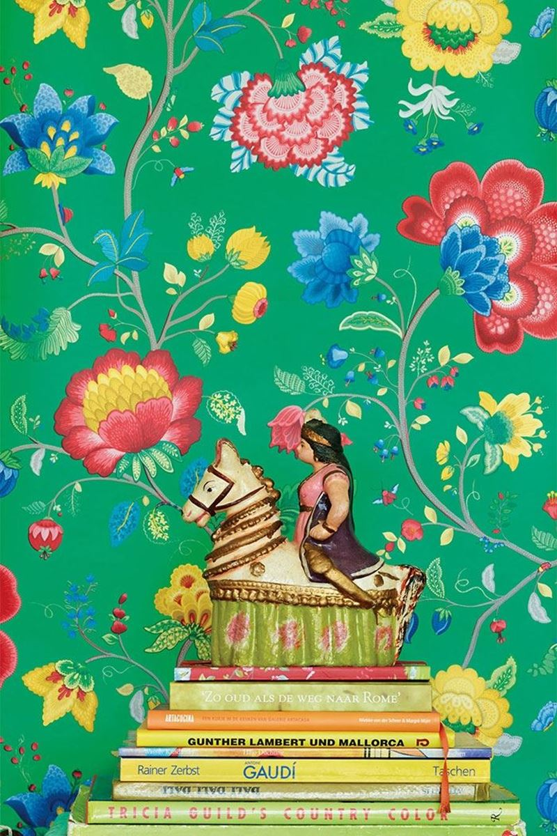 Color Relation Product Pip Studio Floral Fantasy Wallpaper Green