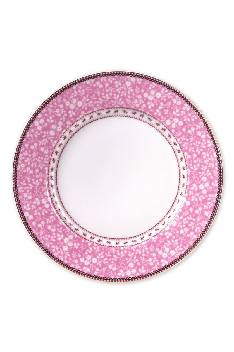 Color Relation Product Floral dinner plate pink