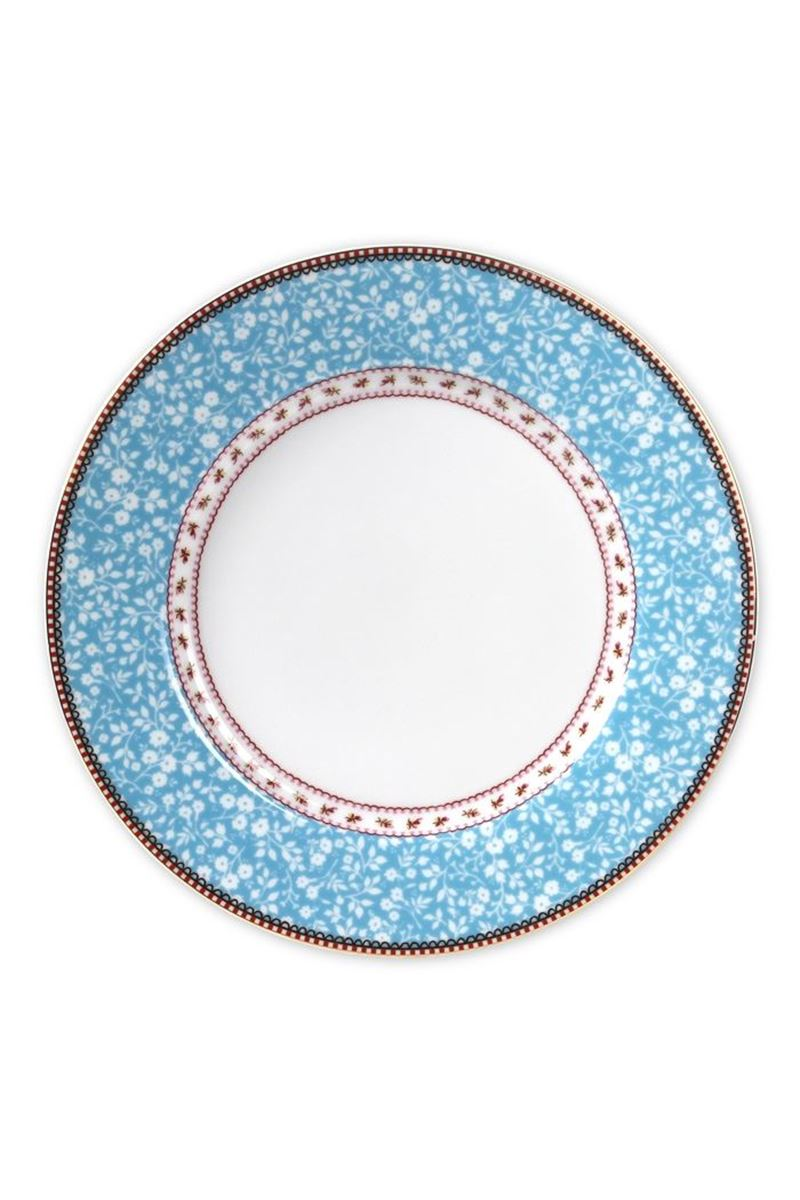 Color Relation Product Floral dinner plate blue 26,5 cm