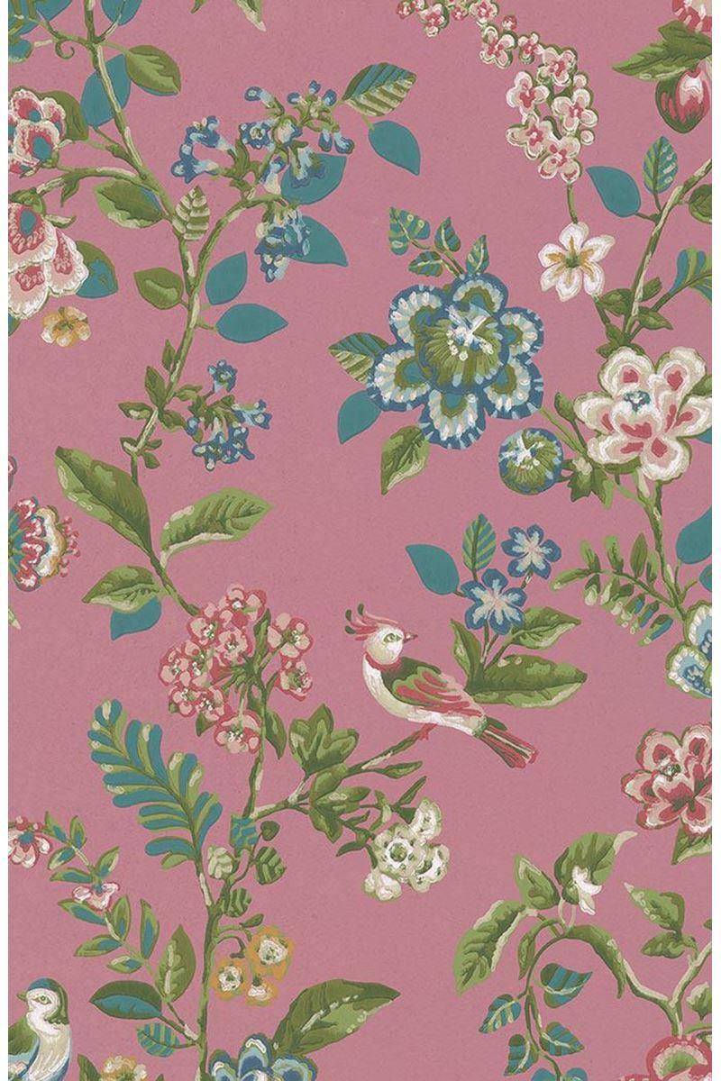 Color Relation Product Pip Studio Botanical Print Wallpaper Dark Pink