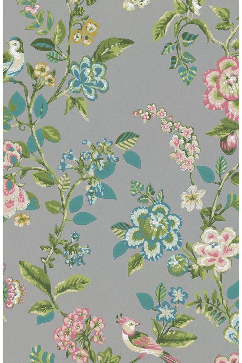 Color Relation Product Pip Studio Botanical Print Tapete Grau