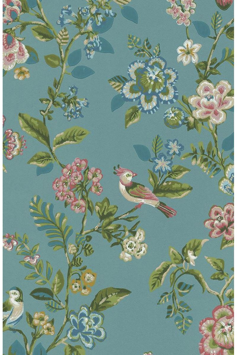 Color Relation Product Pip Studio Botanical Print Wallpaper Sea Blue