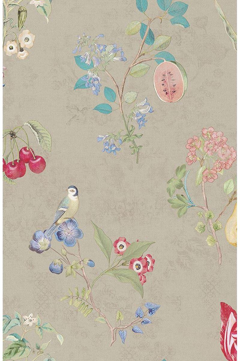 Color Relation Product Pip Studio Cherry Pip Tapete Khaki