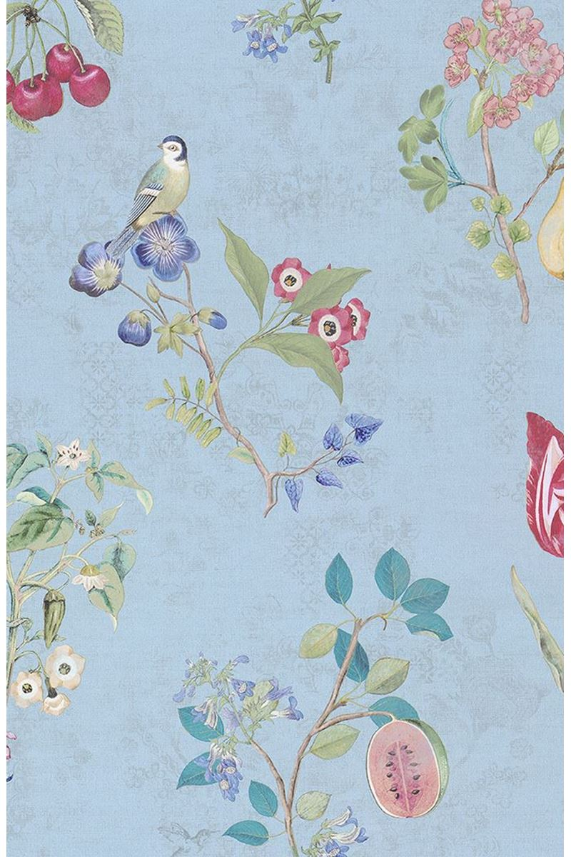 Color Relation Product Pip Studio Cherry Pip Wallpaper Light Blue