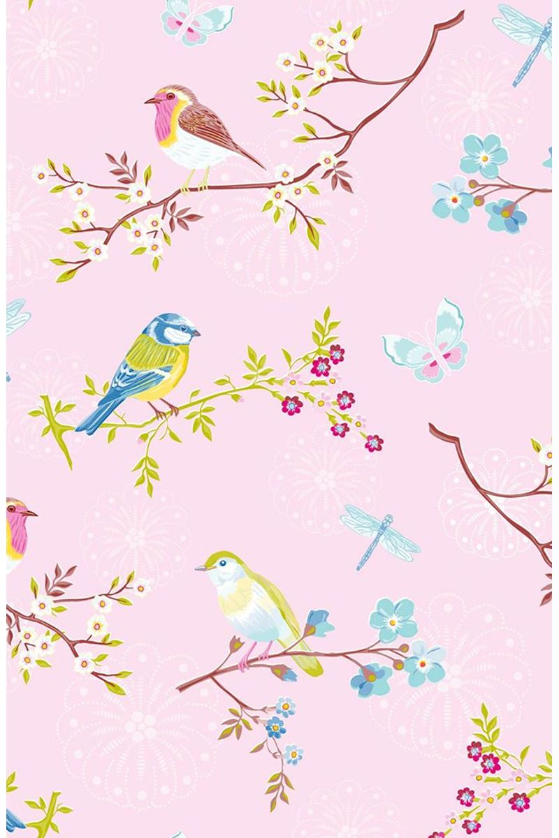 Color Relation Product Pip Studio Early Bird Wallpaper Light Pink