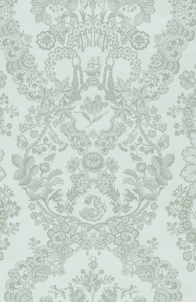 Color Relation Product Pip Studio Lacy Dutch wallpaper light green