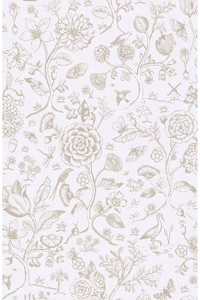 Color Relation Product Pip Studio Spring to Life Two Tone Wallpaper Ecru