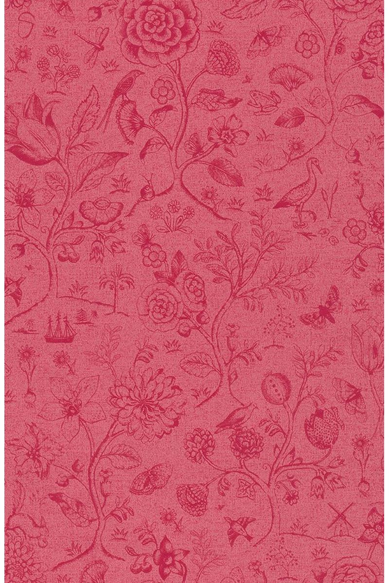 Color Relation Product Pip Studio Spring to Life Two Tone Wallpaper Red/Pink