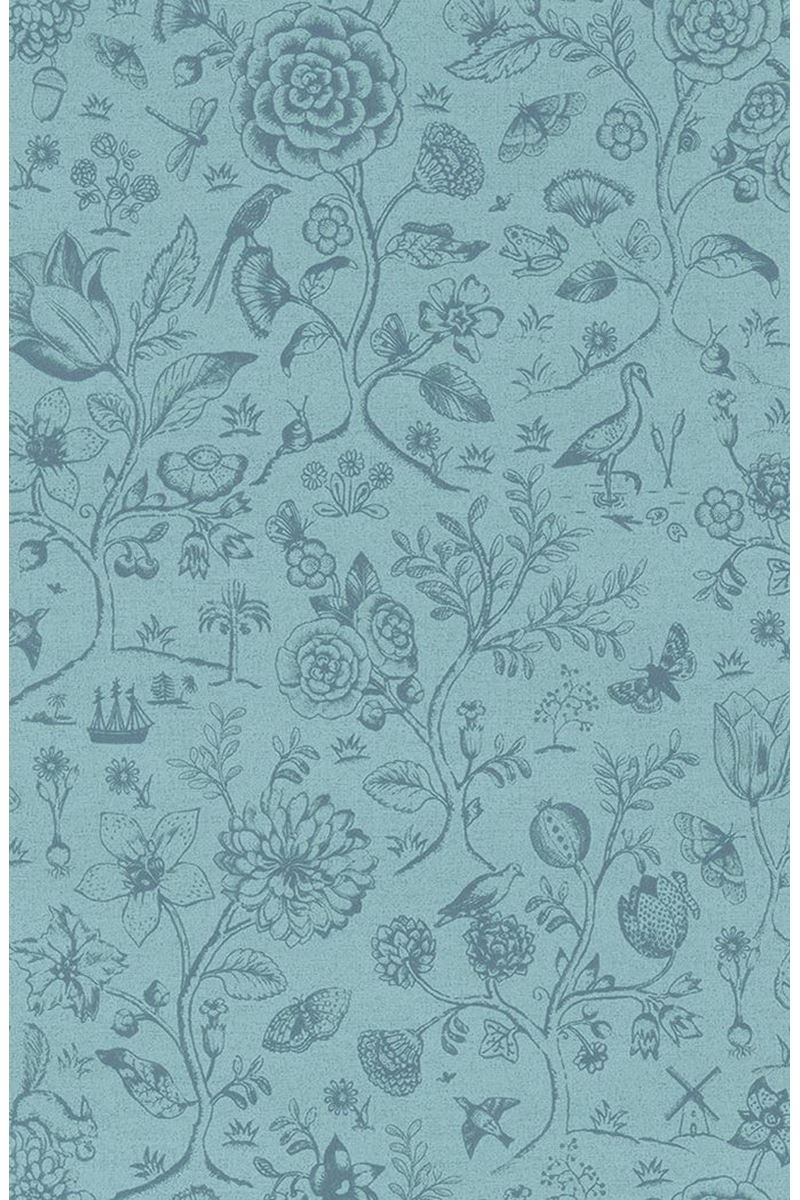 Color Relation Product Pip Studio Spring to Life Two Tone Wallpaper Sea Blue