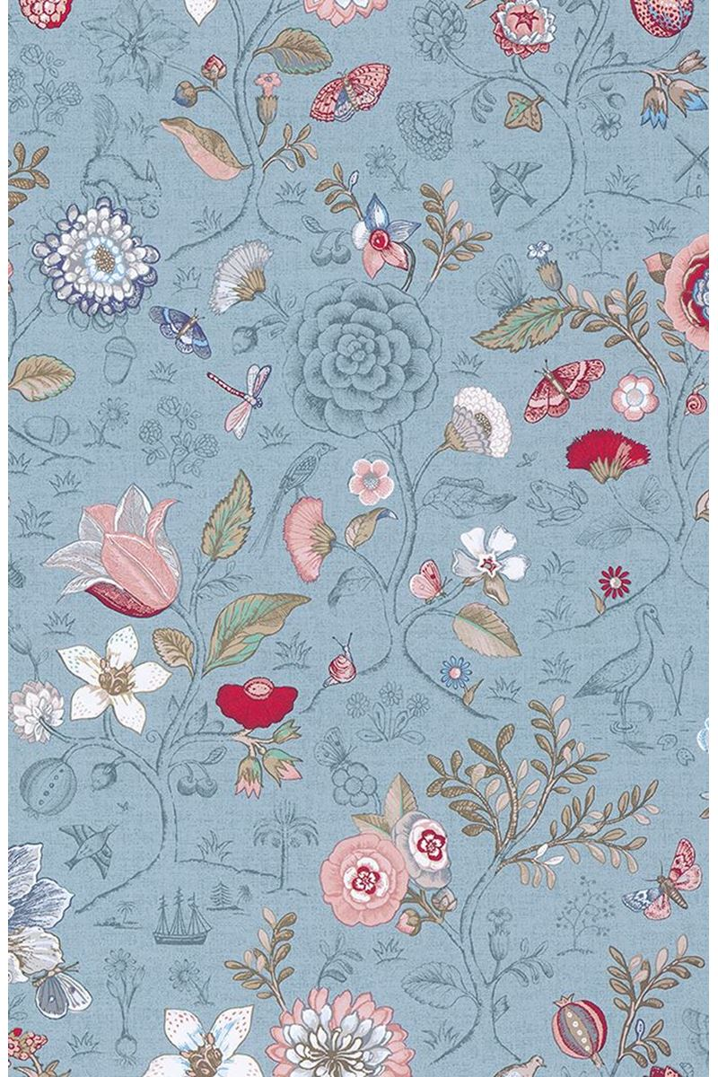 Color Relation Product Pip Studio Spring to Life Wallpaper Light Blue