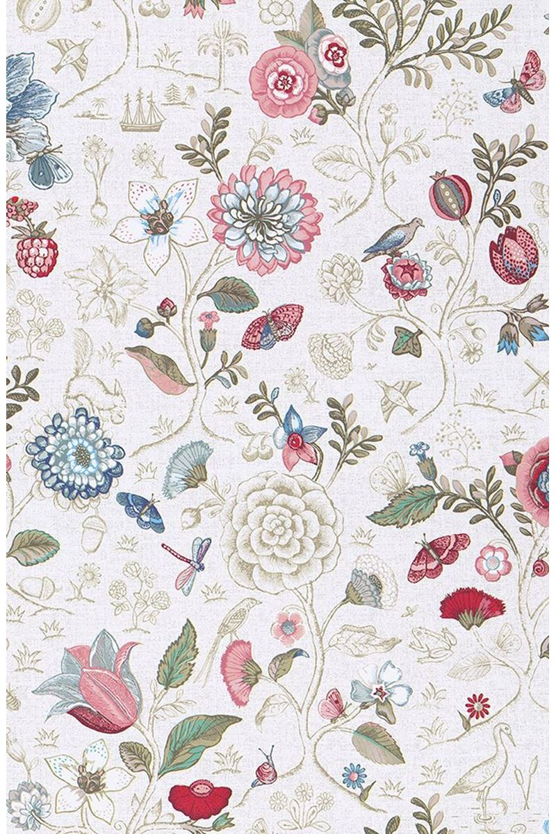 Color Relation Product Pip Studio Spring to Life Wallpaper Off White