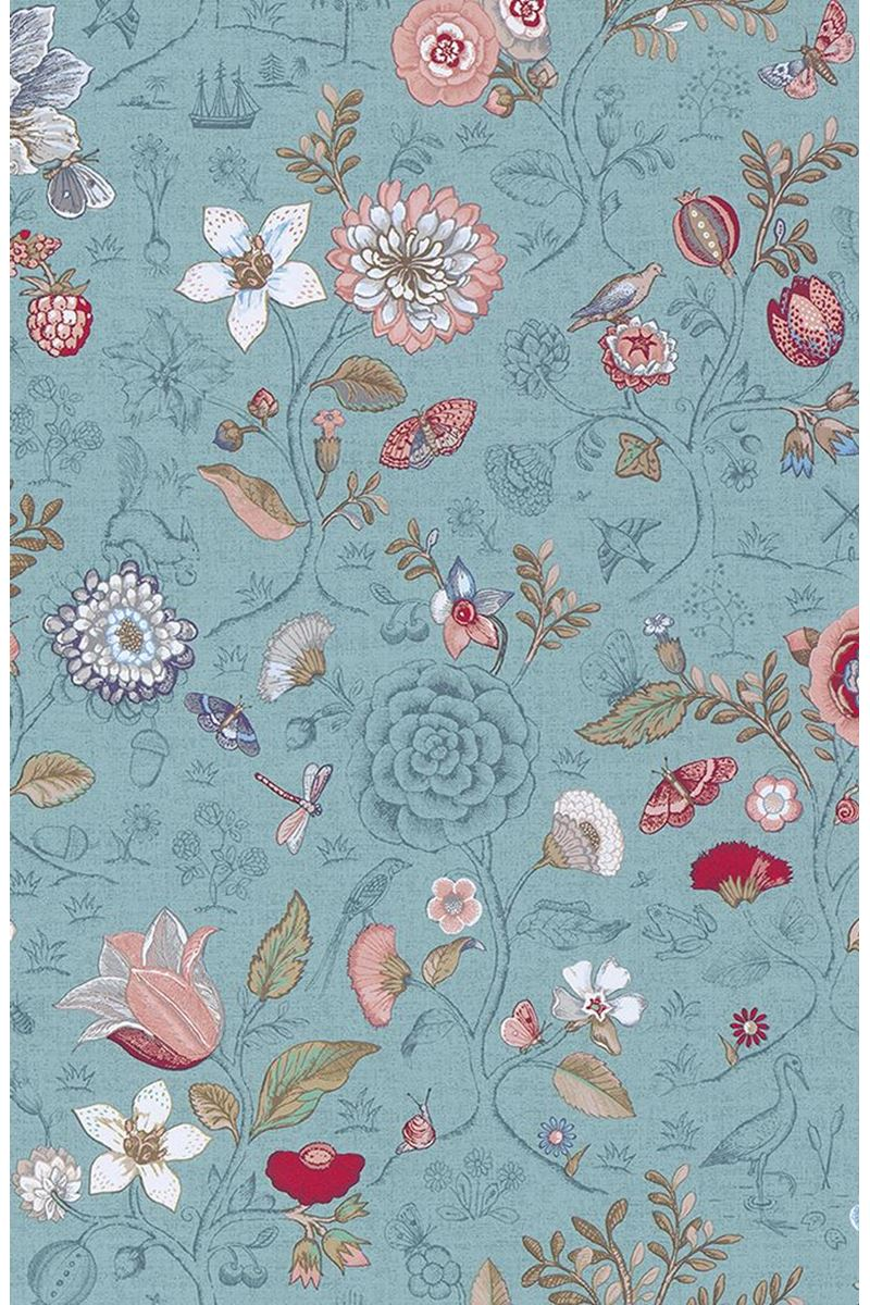 Color Relation Product Pip Studio Spring to Life Wallpaper Sea Blue