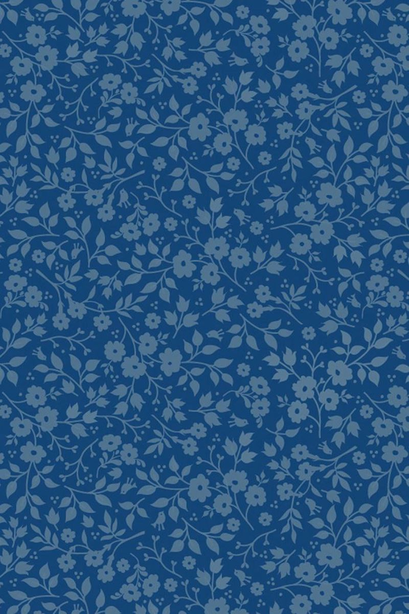 Color Relation Product Pip Studio Lovely Branches Tapete Dunkel Blau