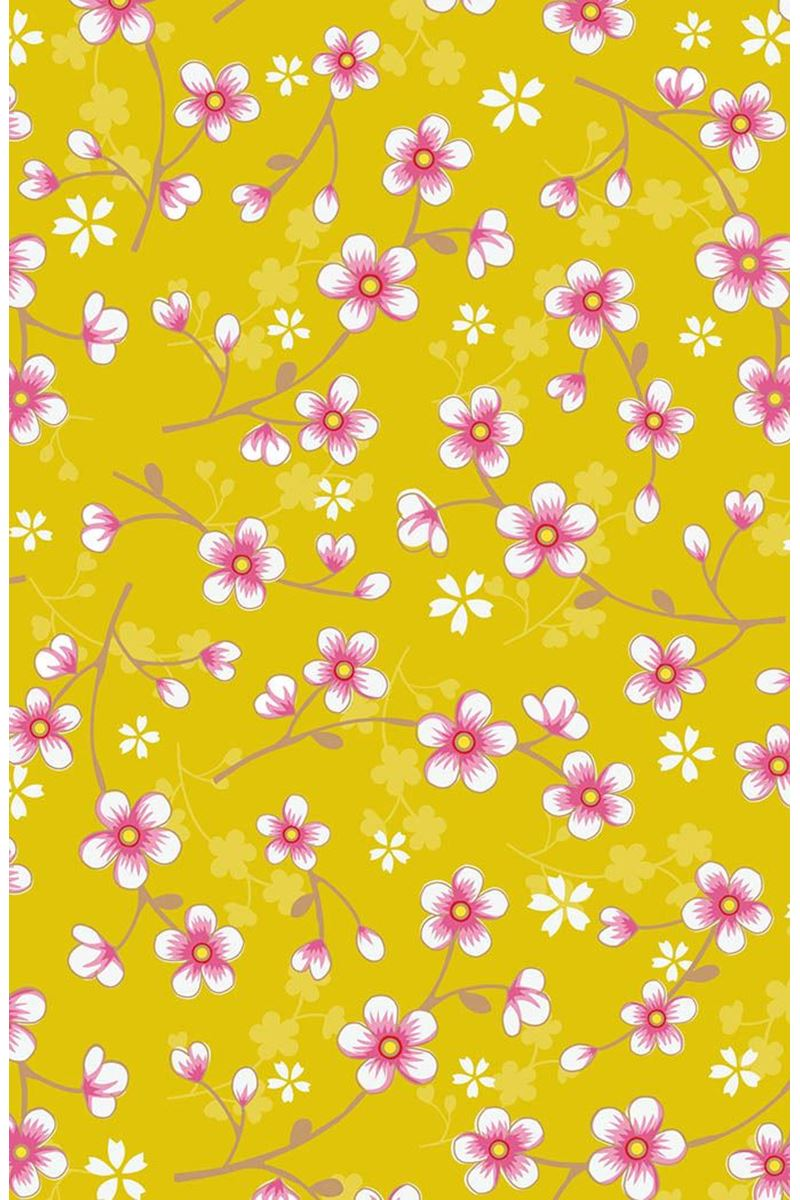 Color Relation Product Pip Studio Cherry Blossom Wallpaper Yellow