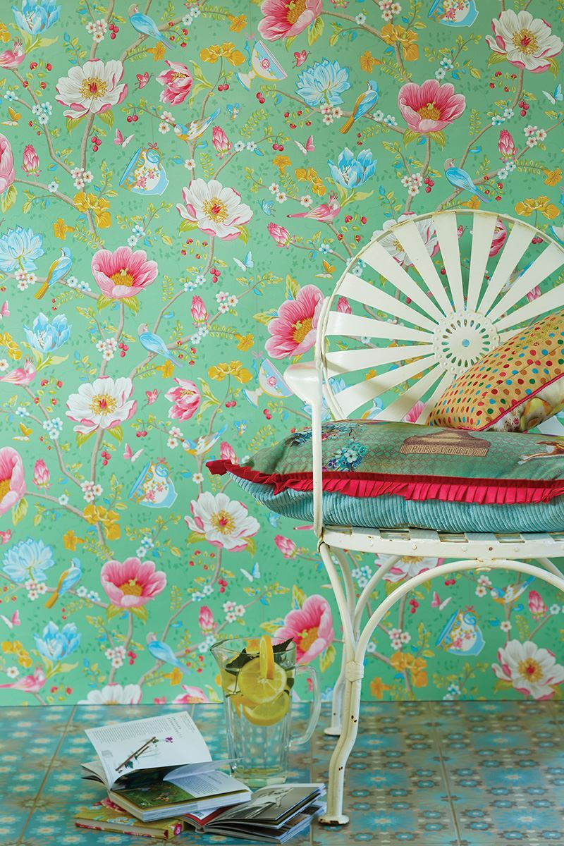Color Relation Product Pip Studio Chinese Garden Wallpaper Green