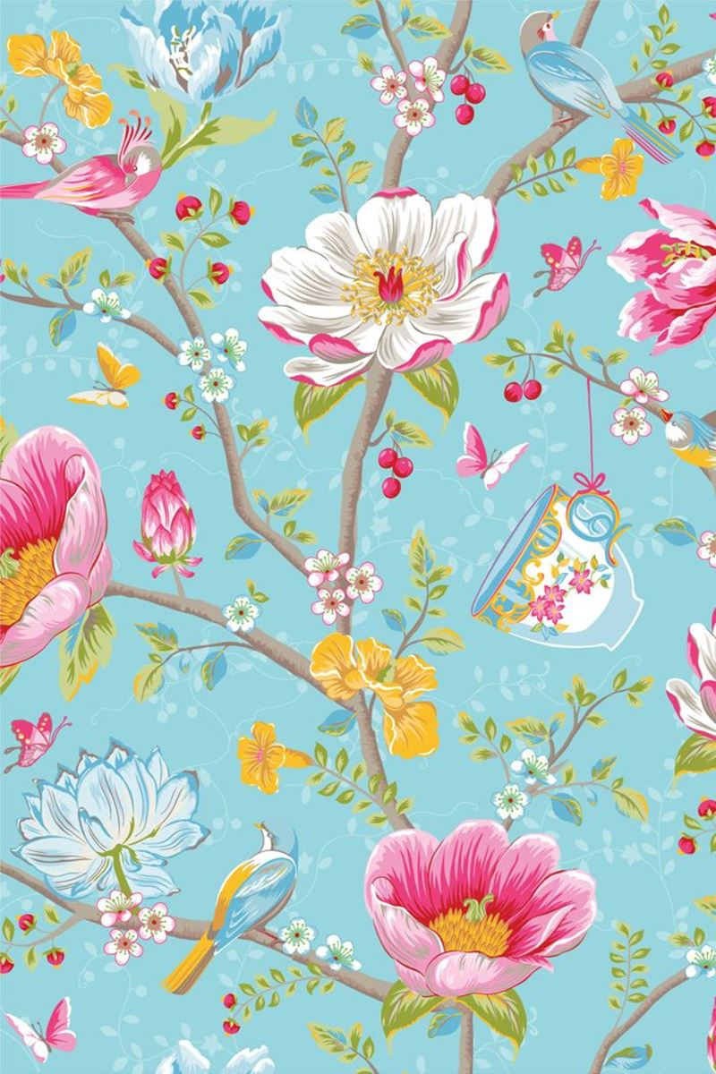 Color Relation Product Chinese Garden wallpaper light blue -  Blauw