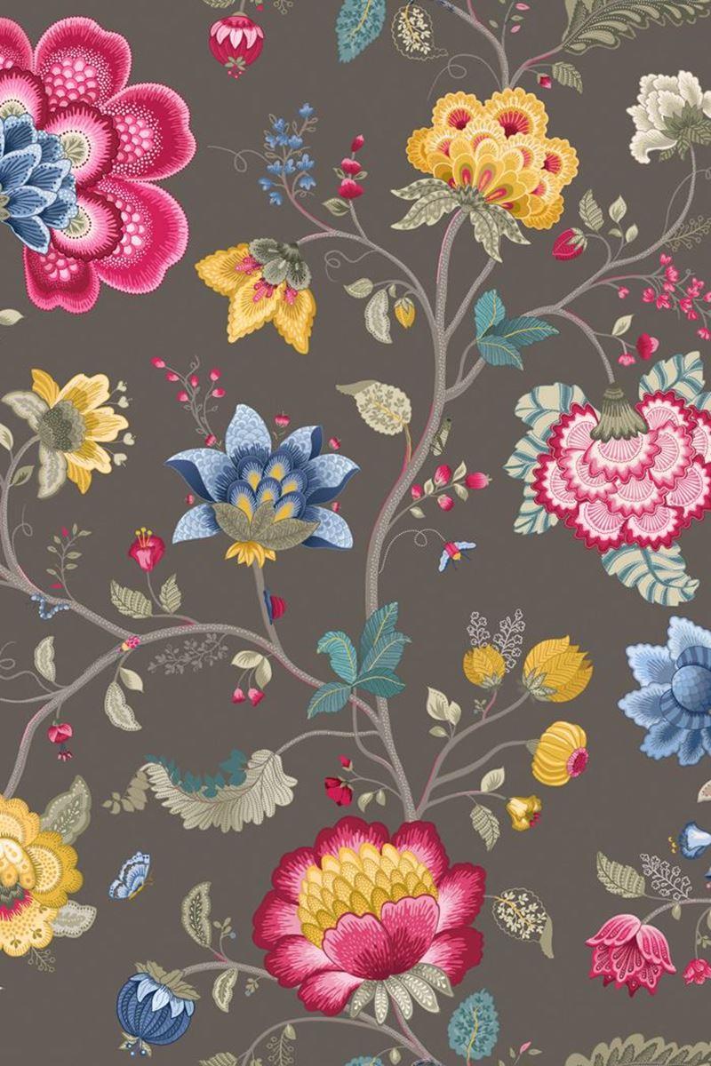 Color Relation Product Pip Studio Floral Fantasy Wallpaper Taupe/Khaki