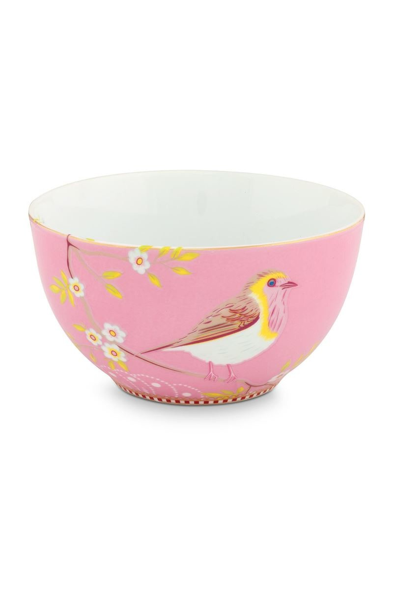 Color Relation Product Floral Bowl Early Bird 15 cm Pink