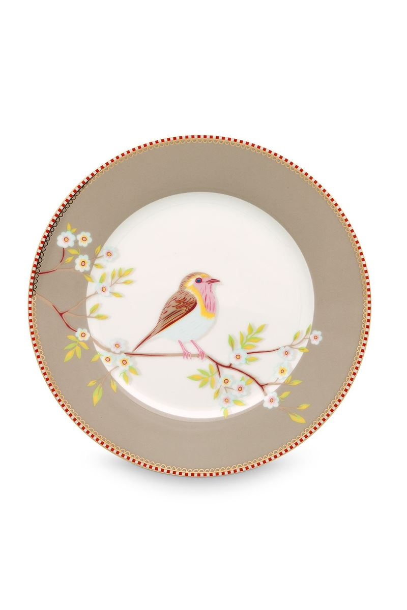 Color Relation Product Floral Breakfast Plate Early Bird Khaki 21 cm