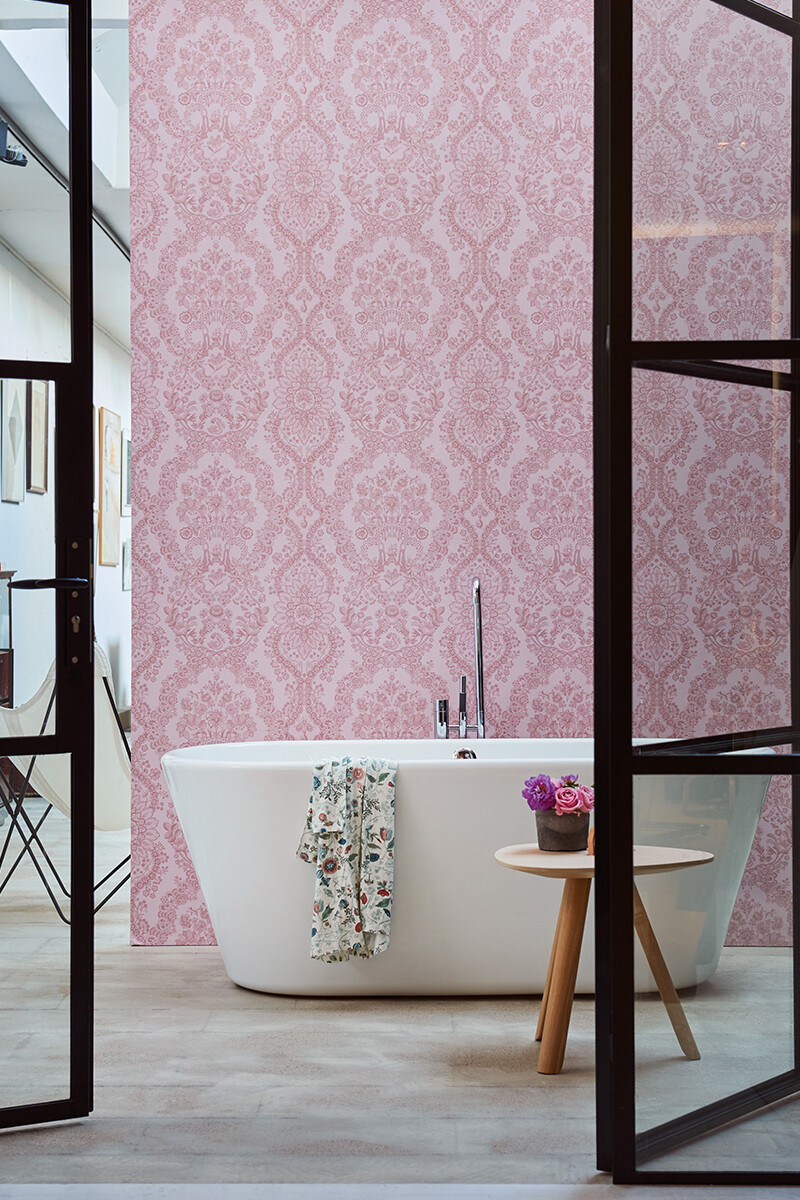 Color Relation Product Pip Studio Lacy Dutch Tapete Rosa