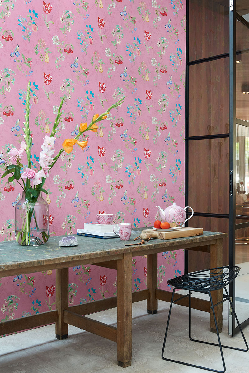 Color Relation Product Pip Studio Cherry Pip Wallpaper Pink