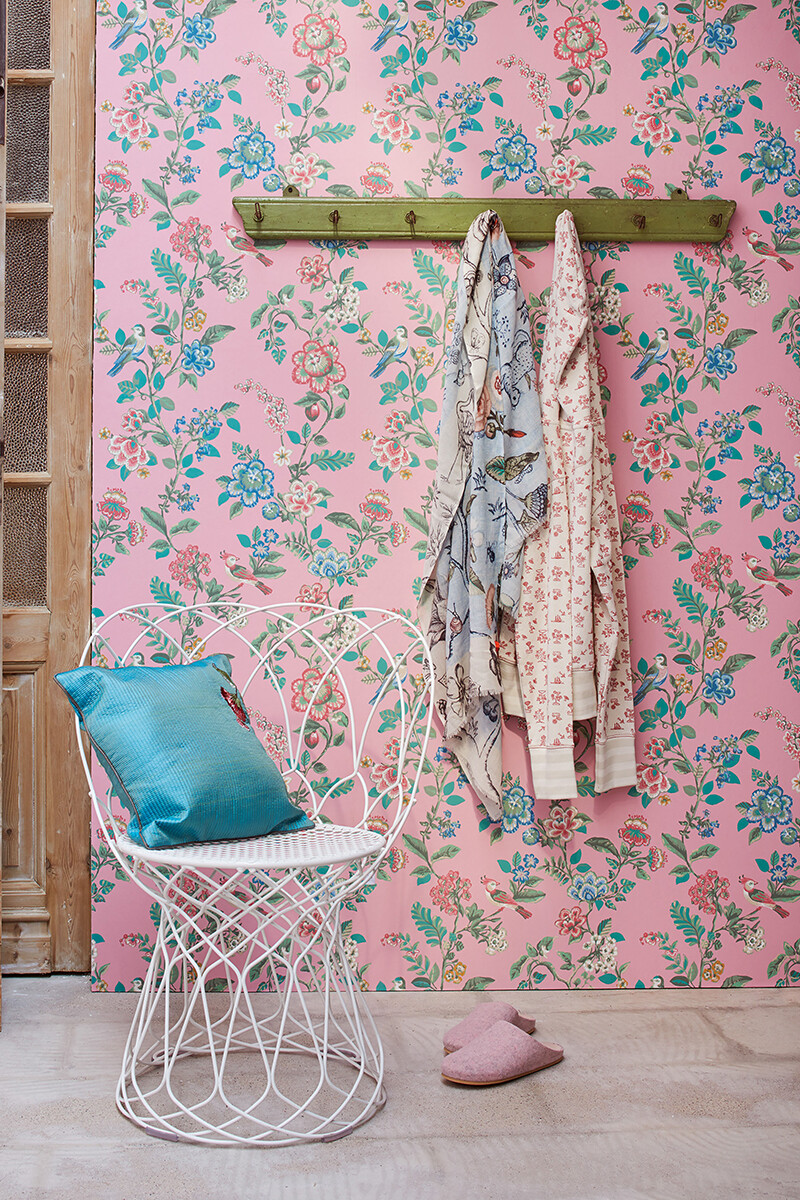 Color Relation Product Pip Studio Botanical Print Wallpaper Soft Pink