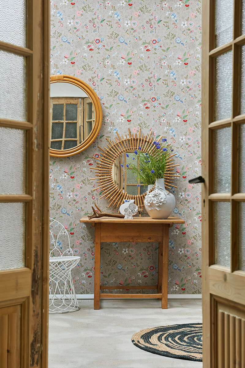 Color Relation Product Pip Studio Spring to Life Wallpaper Khaki