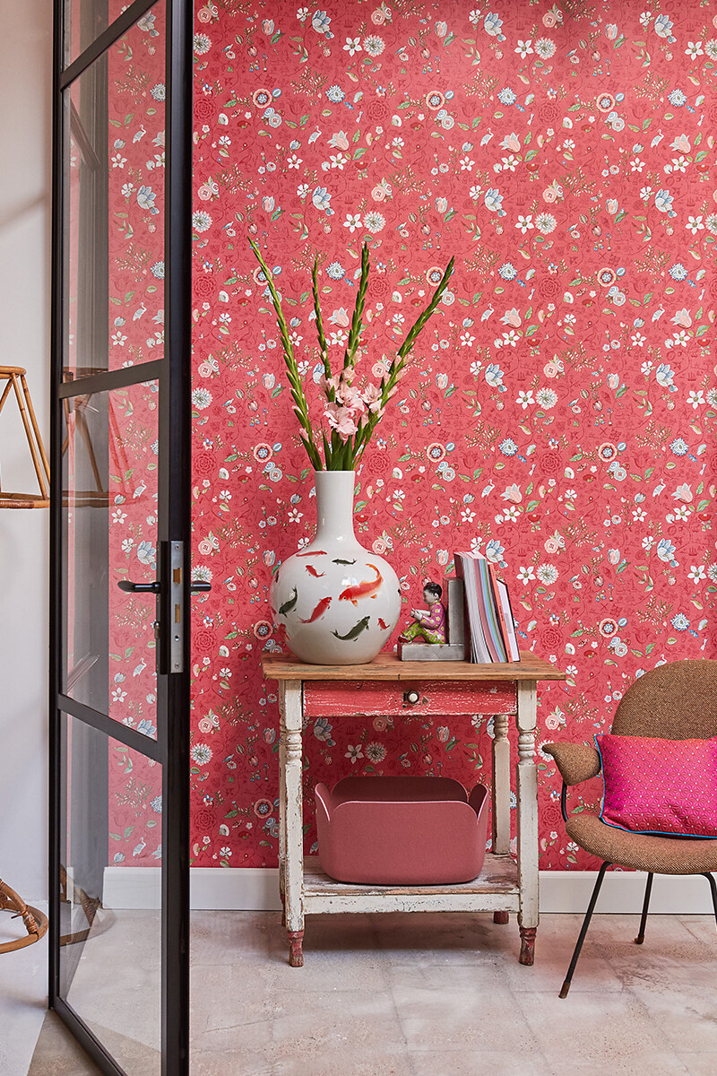 Color Relation Product Pip Studio Spring to Life Wallpaper Red/Pink