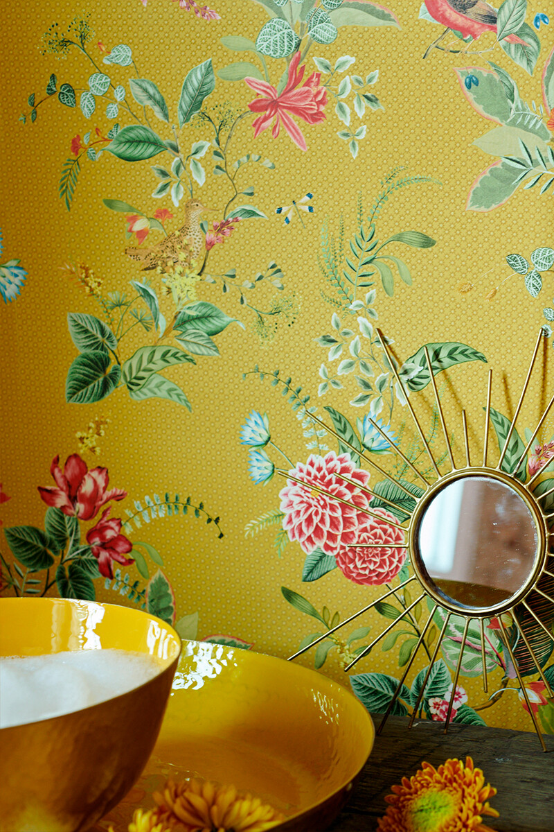 Color Relation Product Pip Studio Floris Behang Geel