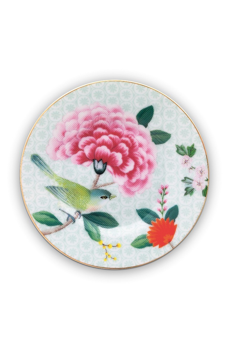 Color Relation Product Blushing Birds Petit Four Plate white 12 cm