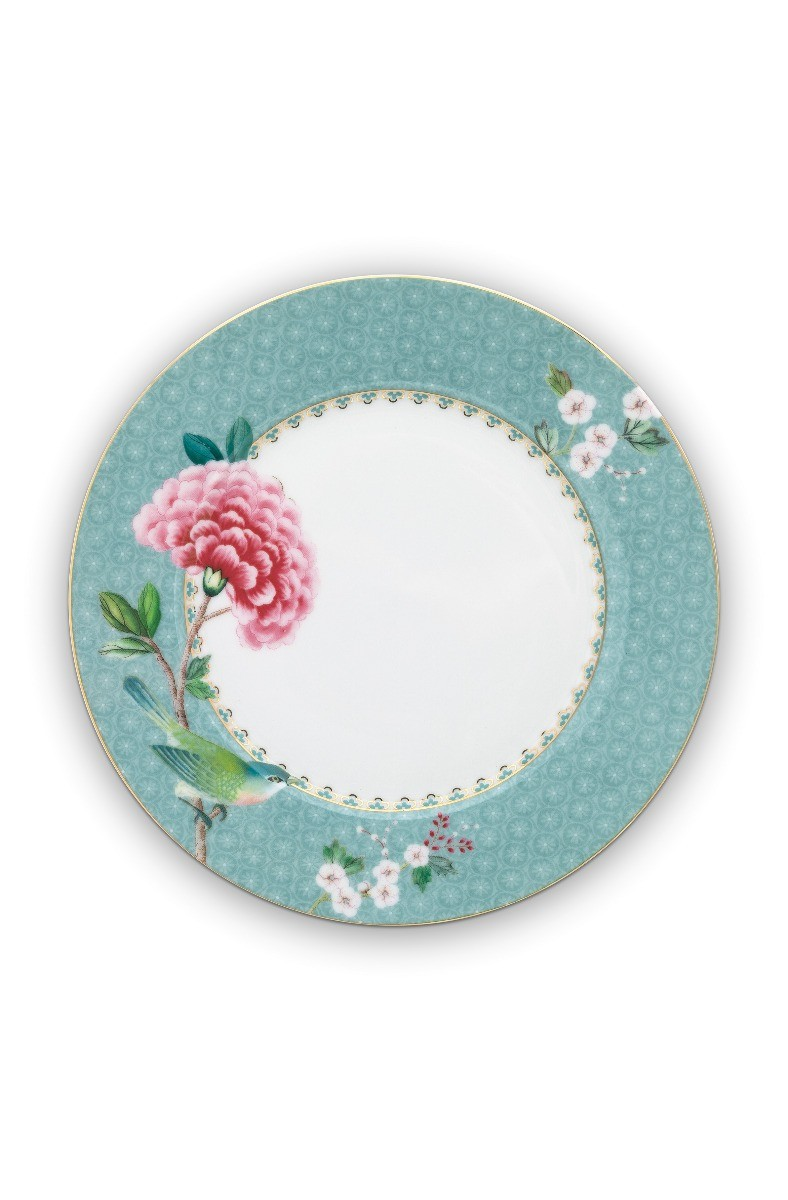 Color Relation Product Blushing Birds Breakfast Plate blue 21 cm