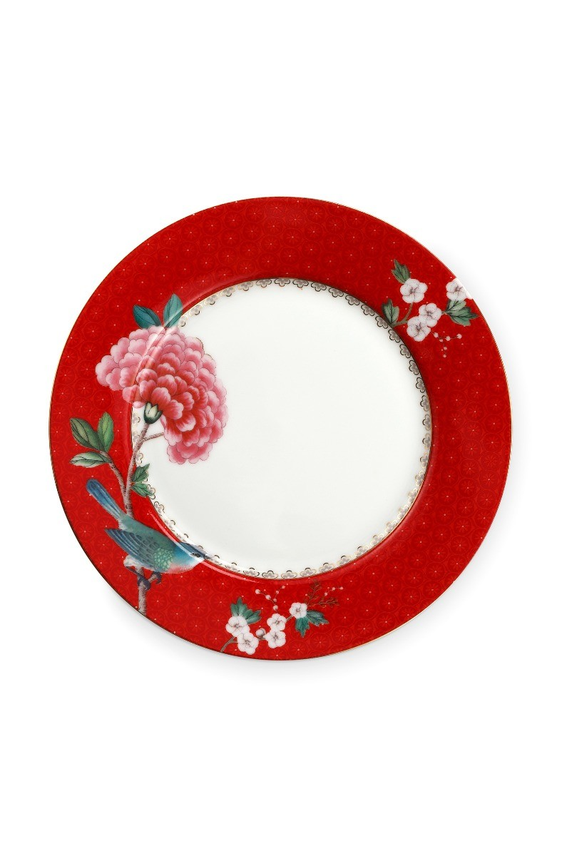 Color Relation Product Blushing Birds Breakfast Plate Red 21 cm