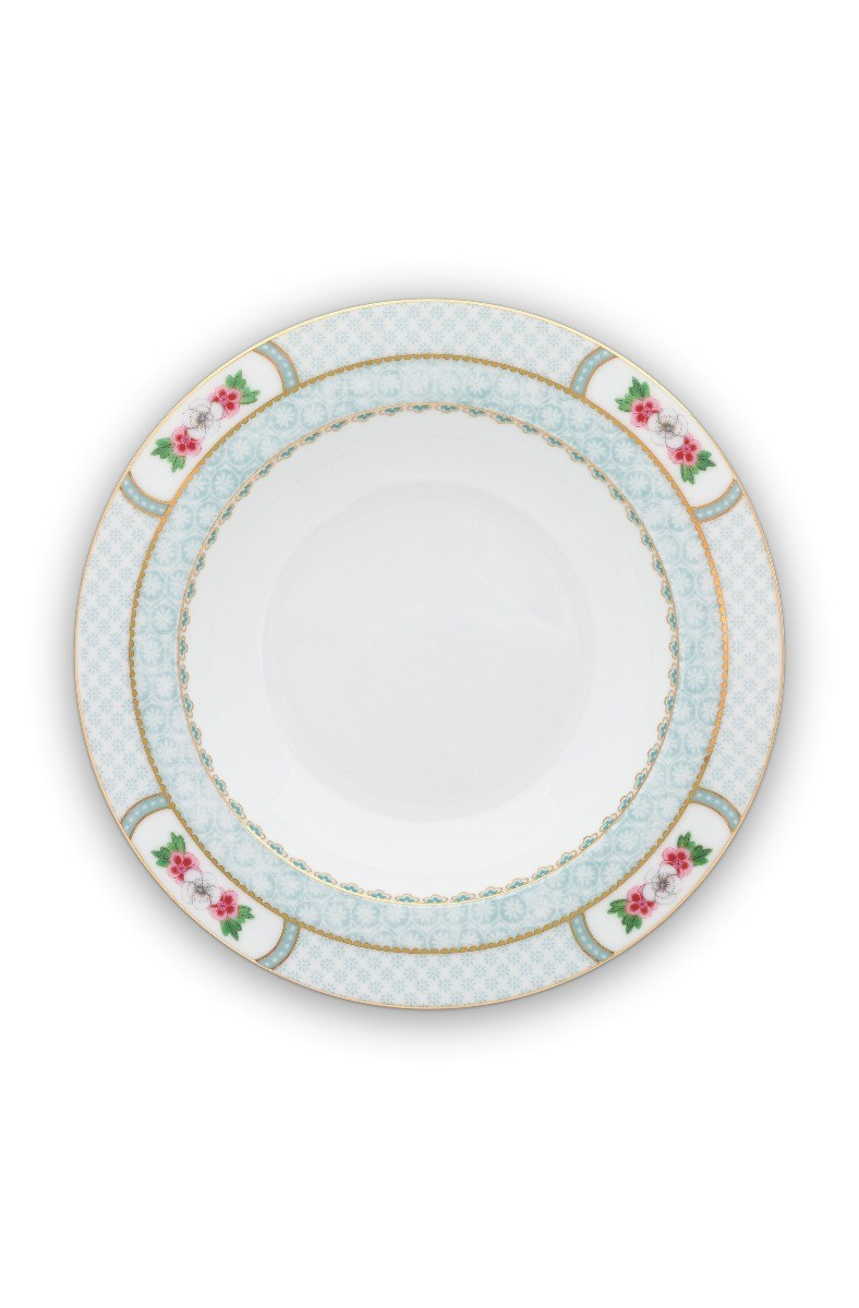 Color Relation Product Blushing Birds Deep Plate white 21.5 cm