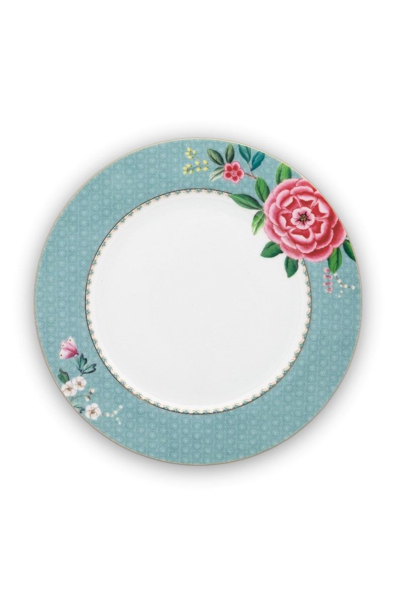 Color Relation Product Blushing Birds Dinner Plate blue 26.5 cm