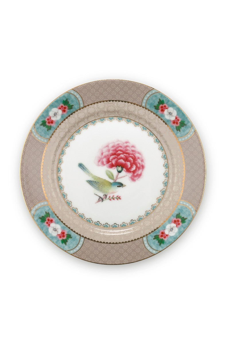 Color Relation Product Blushing Birds Pastry Plate Khaki 17 cm