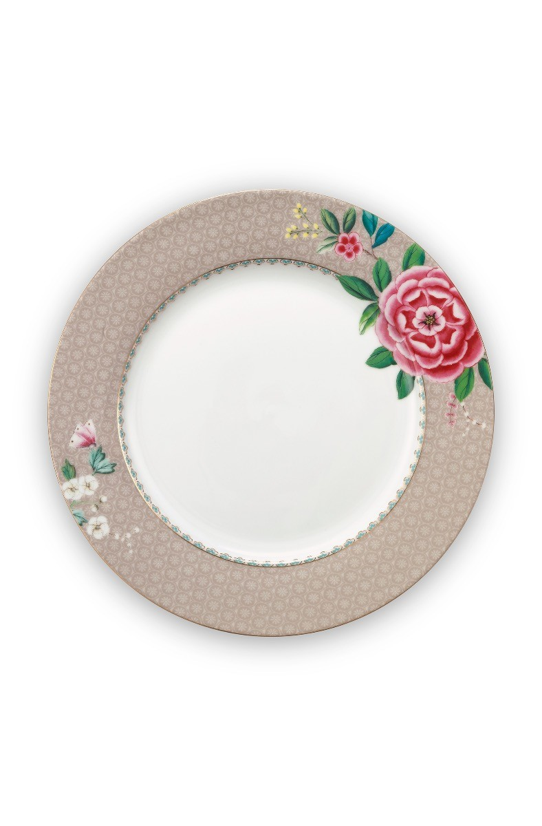 Color Relation Product Blushing Birds Dinner Plate Khaki 26.5 cm
