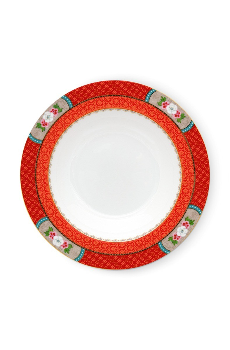 Color Relation Product Blushing Birds Soup Plate Red 21.5 cm