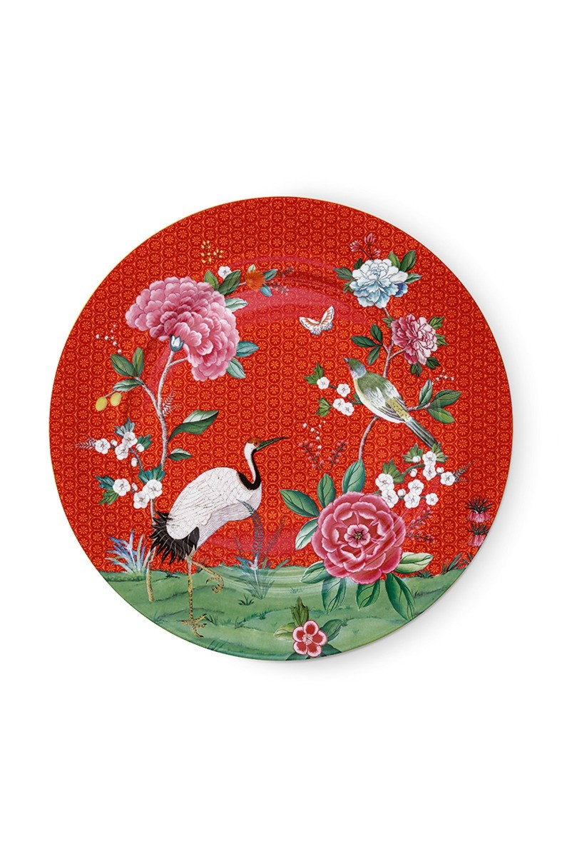 Color Relation Product Blushing Birds Underplate Red 32 cm