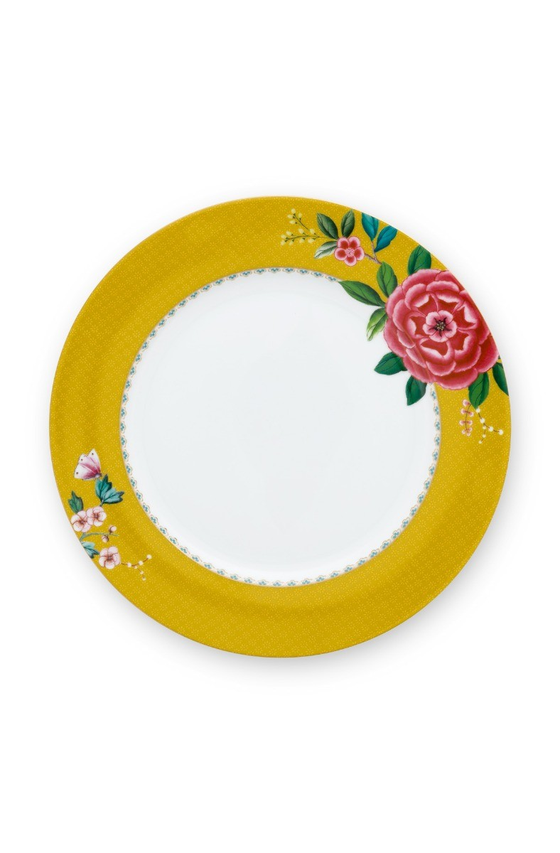 Color Relation Product Blushing Birds Dinner Plate Yellow 26.5 cm