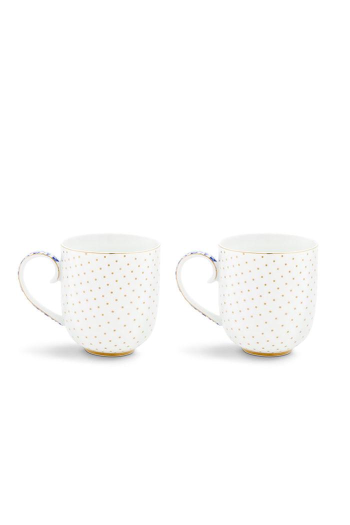 Color Relation Product Royal White Set/2 mokken klein