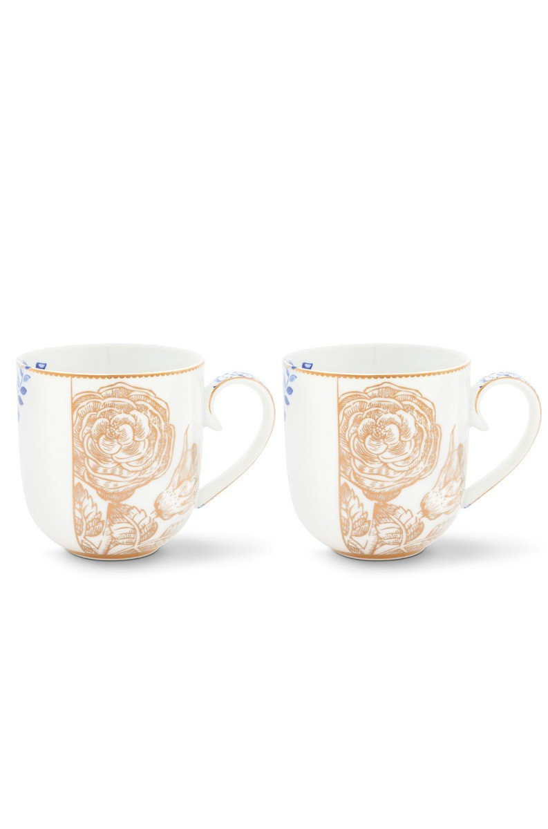 Color Relation Product Royal White Set of 2 mugs large